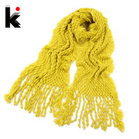 Free shopping wholesale scarf 2014 Thick knitted solid color elegant autumn and winter female muffler scarf