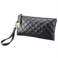 Woman's purse fashion plaid day clutch bag women messenger bags pu leather handbags Long Wallet / small bag/coin purse