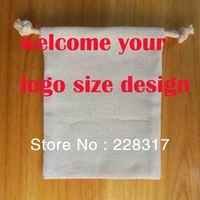 7*11cm custom logo print bag 100% cotton  gift bag drawstring bag packaging pouches customized pouches