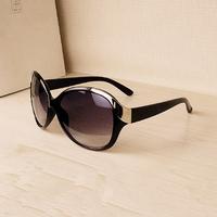 high  3 Colors 2014 NEW  fashion Metal Frame sunglasses women brand designer oculos de sol glasses 6-5-0 free ship N47