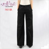 2013 autumn and winter slim ol 100% cotton straight trousers wide leg pants plus size pants
