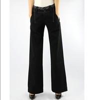 2013 100% female casual cotton trousers mid waist plus size pants