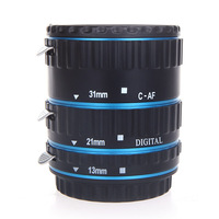 Metal TTL Auto Focus AF Macro Extension Tube Ring for Canon EOS EF EF-S 60D 7D 5D II 550D Red/Blue/Golden/Silver