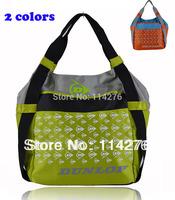 Brand women and men sports Bag Messenger Travel gym shoulder bag large capacity orange+green available DN-42C