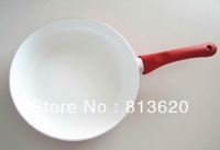 FREESHIPMENT -24CM FRY PAN -CERAMIC FRY PAN ---NON STICK---CAN BE USE ON THE GAS STOVE & INDUCTION COOKER SAME TIME