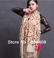 2014 wholesale new style double-deck leopard print,animal print autumn women silk scarf shawl,chirstmas gift scarf muffler