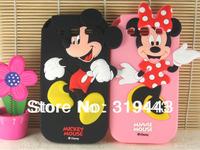 Cute Cartoon Mickey Minnie Mouse Polka Dot Bow Silicone Case For Samsung Galaxy Win I8550 I8552 BP