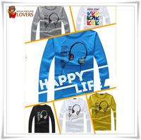 Men's clothing long sleeve t-shirt factory directly sale M,L,XL Sports t- shirt/fashion t-shirt good quality cheap price NT003
