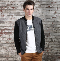 New 2013 Autumn Winter Warm Brand Men Jacket, Fashion Casual Business Style Slim Fit Outdoor Jacket Coat with Gray Blue Green