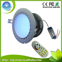 Free shipping 1 Downlight and 1 remote control as a set  AC85~265v  12w LED RGBW Downlight