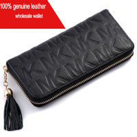 2013Free Shipping Wholesale Genuine Leather Women And Men Wallet ,Women Long Purse Men Wallet