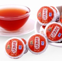 Yunnan Xinyi Brands Chrysanthemum Flavor Effective Loss Weight Health Care Mini Puer Tea, Early Days Ripe Red Tea Free Shipping