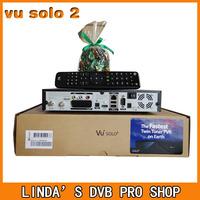vu solo 2 original Linux system decoder 1300 MHz CPU 2 dvb-s2 tuner vu solo hd satellite receiver vu solo II free shipping