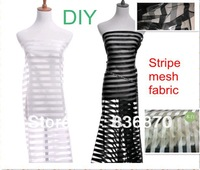 FACTORY! multifunctional stripe  mesh fabric,white DIY wedding dress,veil,cloth, curtain,party decoration,tent,waistcoat