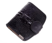 2013 fashion crocodile European and American style design genuine leather  women short wallet  lady purse card package  WBG0803
