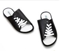 New 2014 Summer Shoes Men Fashion Beach Open Toe Slippers Casual Cross Flat Sandals Flats Plastic Big Plus Size 37 - 44 5335