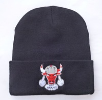 3 Styles ! Bulls Beanie Hats for Men and Women Fashion Beanies Skullies Winter Knitted Hats free shipping