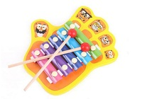 The palm 5 tone hand cartoon. Children hand knock one, baby musical toys