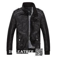 2013 new fashion men's autumn and winter men's casual leather jacket high-grade pu leather clothing fur clothing for men