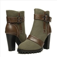Women Motorcycle Boots  2013 New Fashion Winter & Snown Boots Thicken  Villus Ankle Boots Knee High Boots  Free Shipping
