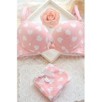 Bra 100% cotton brief young girl underwear sports bra set black and white solid color women's single-bra