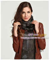 BG28747Hot Sale Fashion Rabbit Fur Scarf  Wholesale Winter Warm Rabbit Fur Scarf