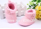 Baby girl shoes first walkers kids Shoes sapatos baby  infantil bebe soft sole Prewalker pink shoes woolen yarn winter boots#X23(China (Mainland))