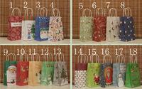 NEW Christmas kraft paper gift bag, Festival gift bags, Paper bag with handles, Christmas gift bags, wholesale price (SS-6922)