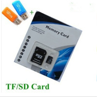 Free Shipping Real Capacity  4G 8G 16G 32G 32GB tf Micro SD Micro SDHC Class 10 TF Flash Memory Card+ reader