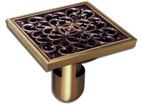 101*94mm bronze Antique style copper kitchen sink floor drain for waste anti-odor valve bathroom hardware