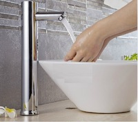 32cm high electronicc fully automatic intelligent sensor faucet for counter wash basin touchless DC and AC hand washer