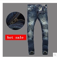 Hot !Free shipping hot sale new fashion brand R jeans men beggar pants jeans high quality skinny autumn jeans for men 608