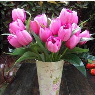 1 букет 9 почки большие тюльпан фиолетовый искусственные шелк столовая бойер декор столовая - стол цветы и растения