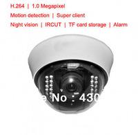 H.264 Dome 1MP IRCUT TF Card Nightvision 3.6mm Lens Alarm Motion Sensor IP Camera HD,Camaras De Seguridad,Security Camera System