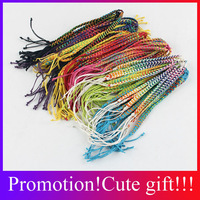 DIY Easy Friendship Bracelets For Women String Bracelets Adjustable Size Cheap Jewelry Colorful Weave Bracelet 100 pcs lots