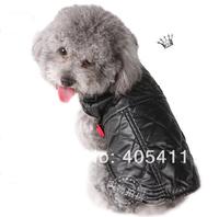 2013 new!autumn winter warm PU leather and Polar fleece Pet cat dog jackets coat dog clothes costume 10pcs/lot  Free shipping !