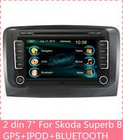 7 inch touch screen 2 din car dvd player gps Navigation for Skoda Super B GPS RADIO RDS DVD MP3 BLUETOOTH A2DP C7024SS