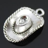 20pcs/lot 23*13mm 2 Colors Antique Silver, Antique Bronze Plated 3D Cowboy Hat Charms