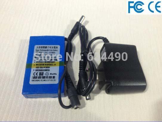 free DHL/UPS/FEDEX shipping 100pcs/lot 12V 3000mah Rechargeable Li-ion Lithium Battery for CCTV camera,LED light(China (Mainland))