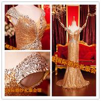 2014 Gossip.H All sizes Personal custom New arrival bride formal dress mermaid wedding dresses vestido de noiva