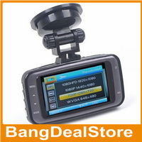 "VanxseHD 1080P 2.7"" LCD Car DVR Vehicle Camera Video Recorder Dash Cam G-sensor HDMI GS8000L Car recorder DVR"