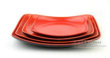 Estilo Chinês Imitação Porcelana Louça, Rustic Black Red Praça prato de frutas Pratos 3PC Set, placas de plástico de Natal Sobremesa(China (Mainland))