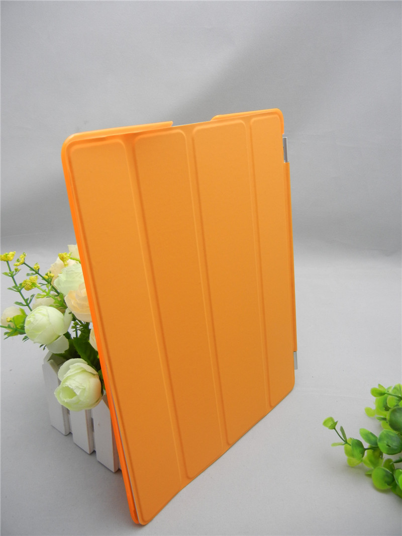 Coffee mate high quality PU Leather case for Apple ipad2\3\4,Magnetic,Stand sleep/ wake function.Free shipping, 9 Color.mixed(China (Mainland))
