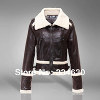 Free Shipping 2014 autumn and winter women fashion leather clothing female short design fur one piece female fur coat