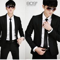 Wedding suit  Free shipping black Men's wedding dress new high quality fashion Business suit men's suits  suit jacket + trousers