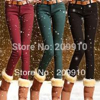 Autumn and winter slim plus size plus velvet thickening legging female elastic pencil pants