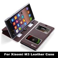 For Xiaomi M3 MI3 Leather Case, Smart Filp Cover