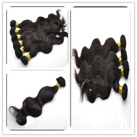 Peruvian body wave virgin hair mixed length 3pcs/lot #1b natural black  curly human hair extension unprocessed hair