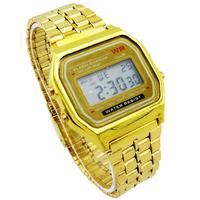 Drop shipping F-91W Metal watch Electronic watches LED watch ultra-thin wrist watch Brand logo LED016
