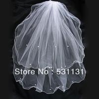 The wedding bridal veil multi-layer aesthetic roll-up hem veil